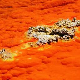 orange minerals nature