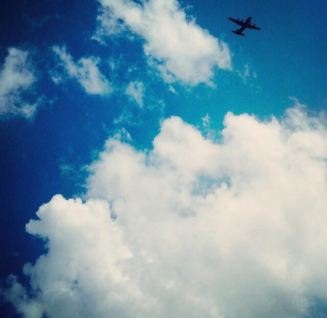 #sky #clouds #plane
