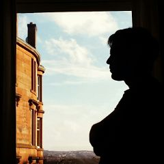 scotland silhouette portrait thinking photography