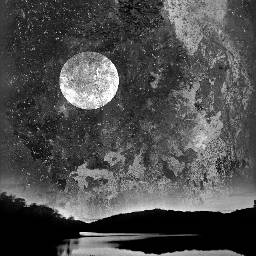 moon unexpected fterust abstract blackandwhite