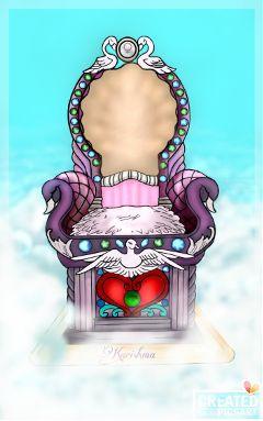 colorful colorsplash aphrodite throne