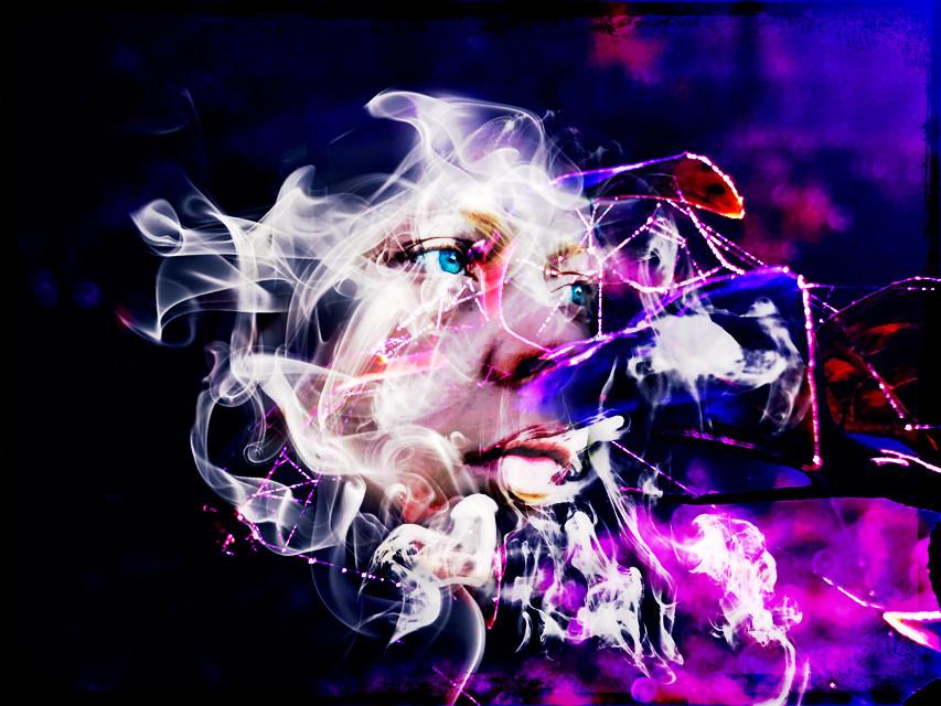 Smoky portrait #smoke #artisticselfie #colorplay #vibranteffect