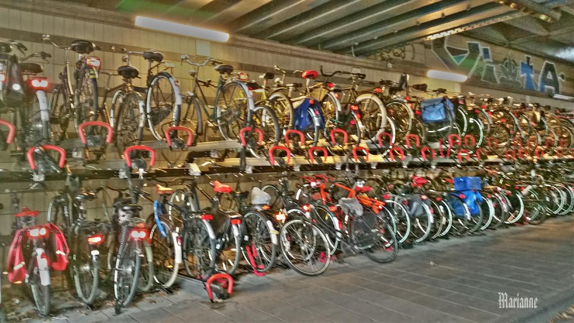 Bike parking Amsterdam #photography #colorsplash