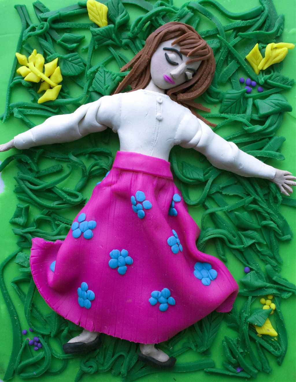 Sleeping Beauty play doh