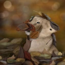 wdpautumn drawing lion autumn leaves