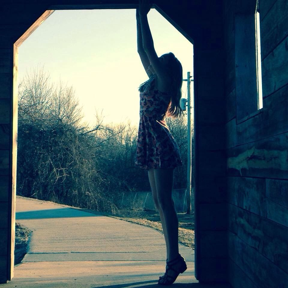 #girl #silouette #dance #ballet #bridge #interesting #art #people