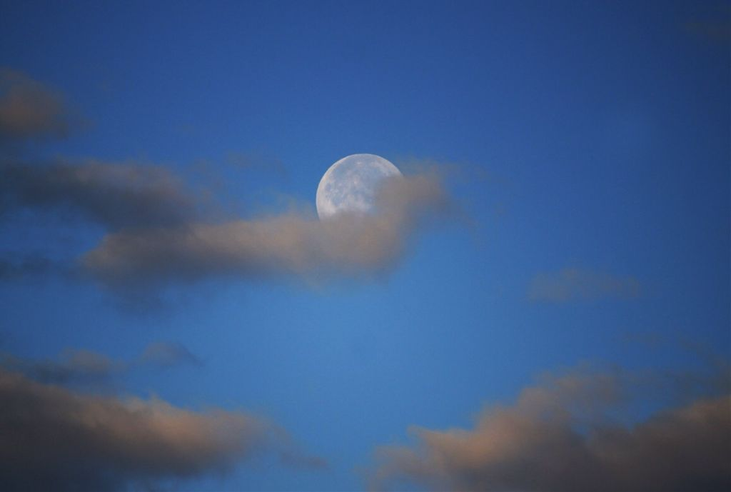 I woke up to the sight of the moon.