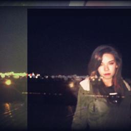 city lights interesting night disort