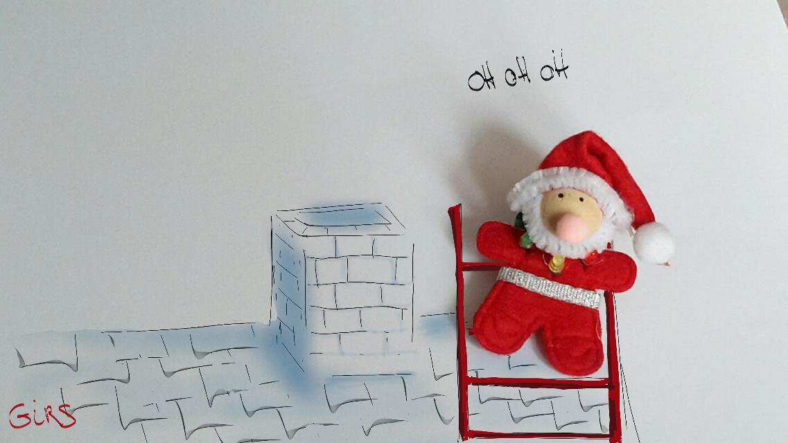 For fun  😊 #ornement #christmas  #santa   #DrawOn