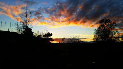 sunset helsinki olympic stadion sky
