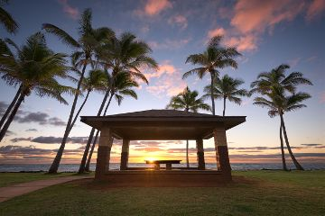 hawaii nature landscape sunrise kauai