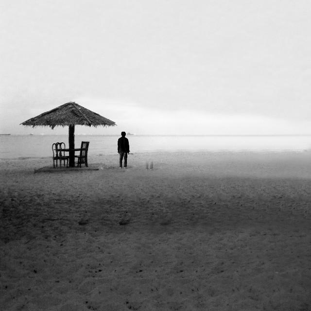 Waiting.. #blackandwhite #photography #people #summer #nature