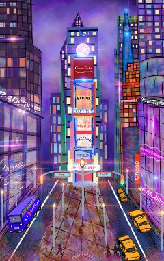 wdptimessquare drawing art newyork timessquare