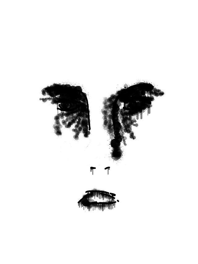 #blackandwhite  #phonedrawing #bodysketch #amateurartist #digital #sketch #digitalart #face #facesketch