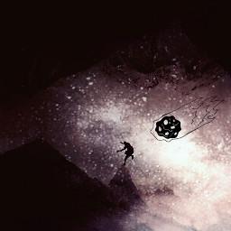 galaxy surreal clipart madewithpicsart