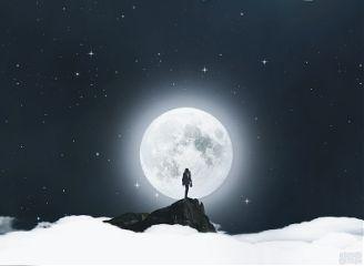 freetoedit moon people peak mountain