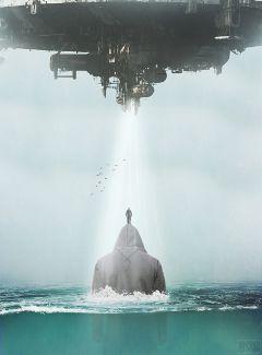 freetoedit people sea ufo ship