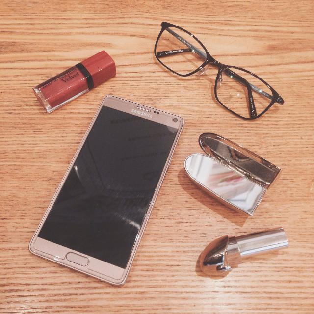 #flatlay #stuff #property #glasses #samsungnote2 #bourjoisvelvet #guerlain