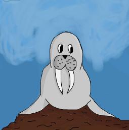 seal rock teeth sky art