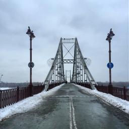 kiev ukraine winter bridge