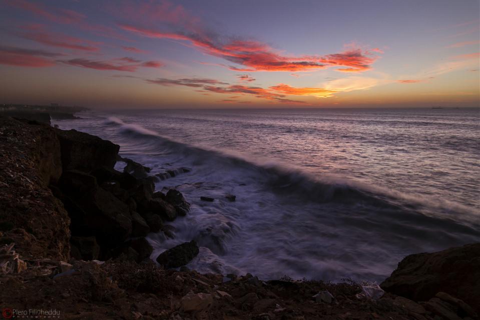 Safi , Marocco #safi #morocco #rocks #cliffs #sun #sunset #mistral #windy #seascape #sky #clouds #tokinalens #canon #landscape #winter #travel #photography #nature #colorful #beach