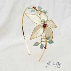 headband tiara headpiece diadema skeletonleaves