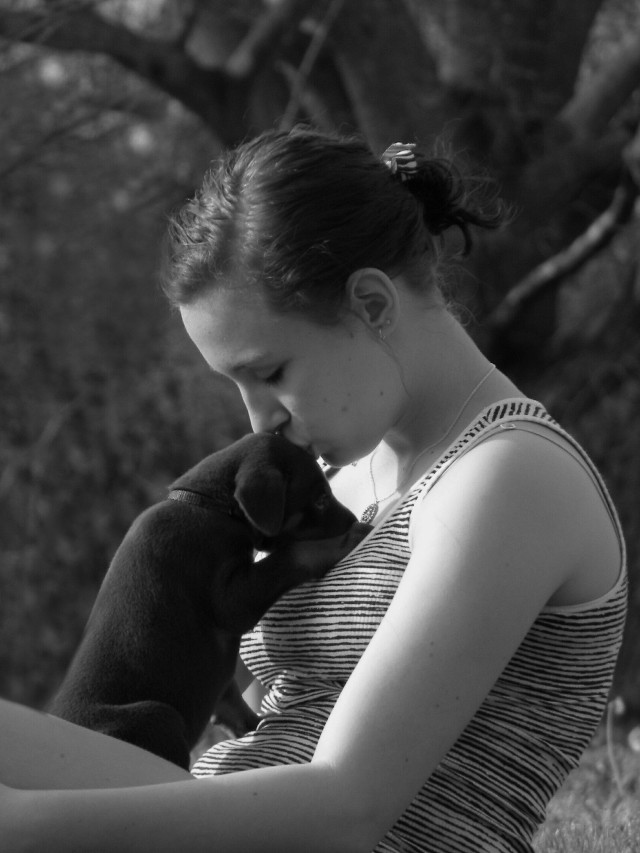 Sara and Thor!!: Capturing the moment is priceless! ! #mypet #nationalpetday #blackandwhite #love #family #emotions #petsandanimals