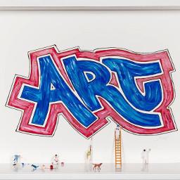 art interesting sculpture miniature abstract people graffiti painting diorama forsale artgallery artcollectors