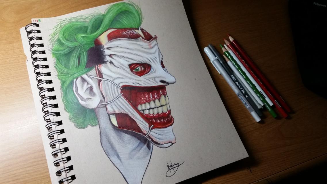http://youtu.be/blZO6x_e2d8 #art #drawing #artistic #portrait #artwork #creative #colorful #prismacolor #bicpen #joker #dccomics #comics #batman