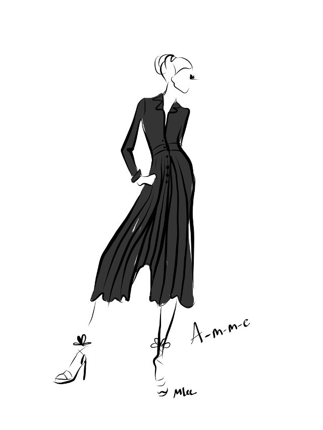 Another live runway sketch from #londonfashionweek