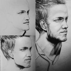 pencilart people blackandwhite emotions drawing