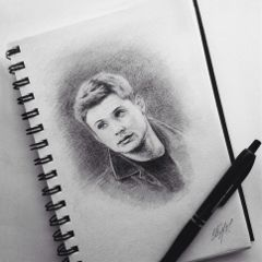 drawing art artwork jensenackles deanwinchester