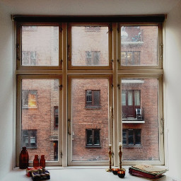 windowview window candle white books