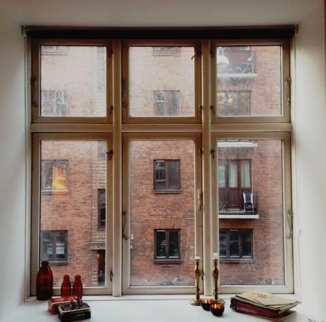 #windowview #window #candle #white #books #vintage