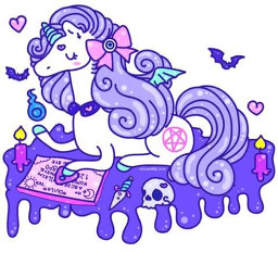 unicorn pastelgothic magical kawaii