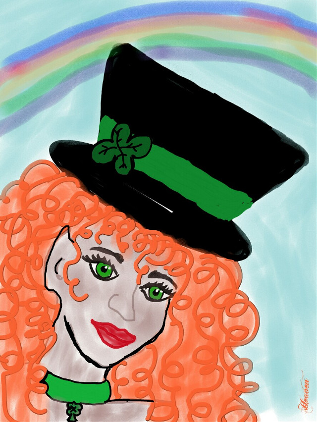 #wdpleprechaun  #ladyleprechaun  #leprechaun  #green  #rainbow #red  #redhair #drawingtools #drawing #mydrawing  Looking for me leprechaun prince...💚💚💚