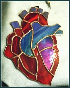 stainedglass myart myhobbies glass heart