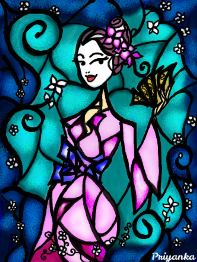#wdpstainedglass #drawing #digitalart #myart #myspace  #colorful