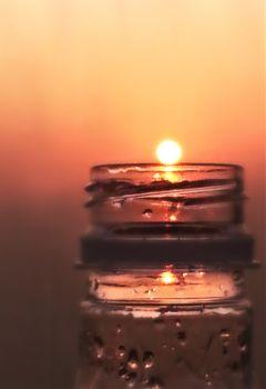oldphoto memento sunset emotions bottle