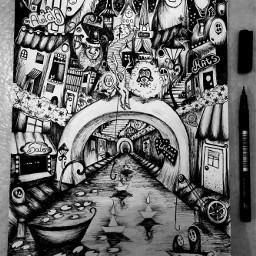 drawing pencilart ink blackandwhite fantasy