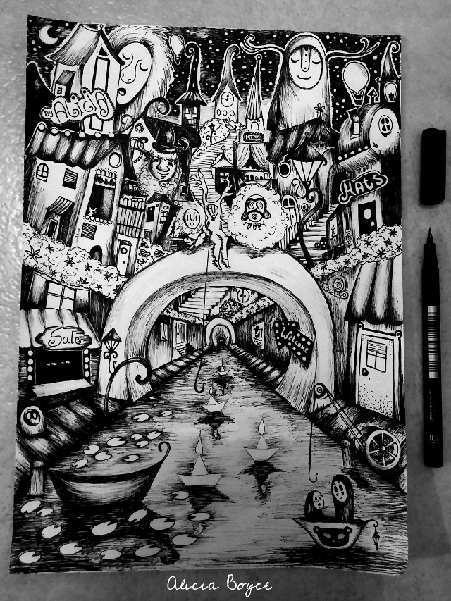 #drawing #pencilart #ink #blackandwhite #fantasy #dream sorry I'm not really active anymore! This is a drawing I made on paper recently :)