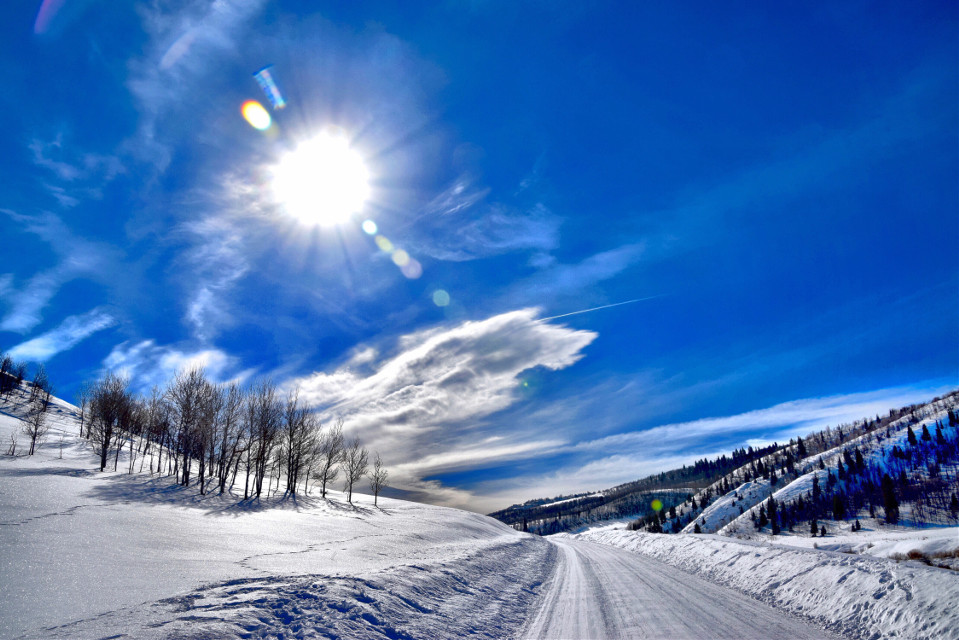 Road Weary #art#snow#landscape#nature #winter#freetoedit
