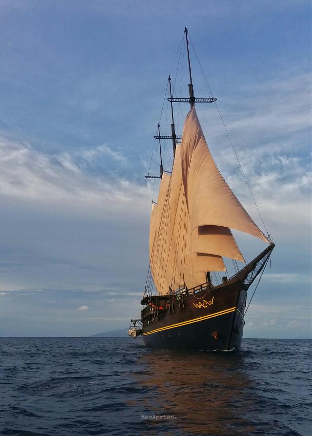 Wanderlust April... My #FreeToEdit #yacht #ship #sea #photography #travel #journey #wakatobi #indonesia