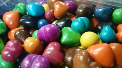 heart stones shape colorful