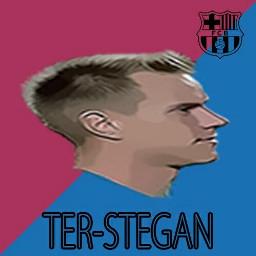 football soccer art barcelona terstegen