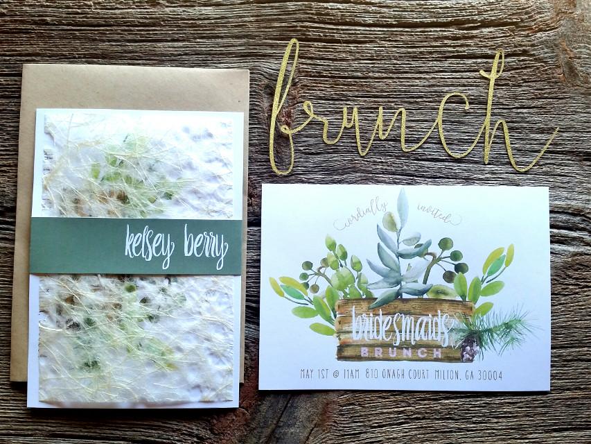 Sweet bridesmaids brunch invitation @vintagestylist