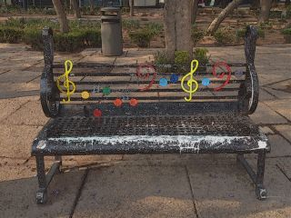 musical comiceffect street mexico bench freetoedit