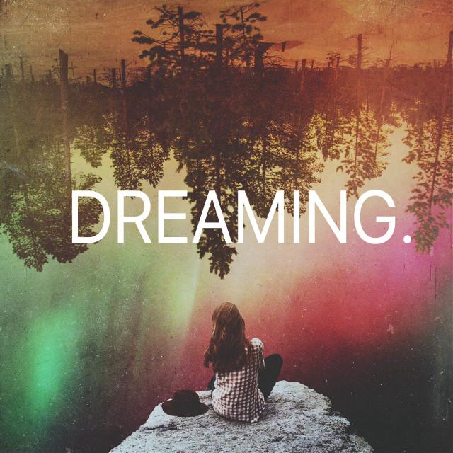 DREAMING           Op: unsplash          #textoverlay #madewithpicsart #textvverlay