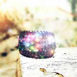 lensflare colorful jewelery shine