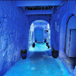 art photography blue chefchaouen marocco